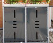 Mülltonenboxen mit Pflanzdach