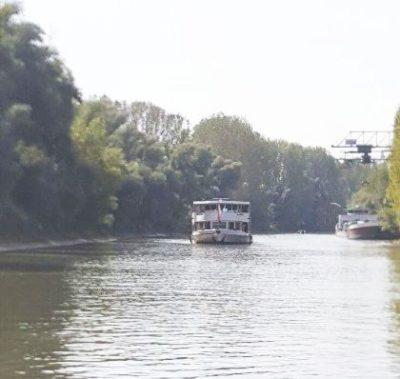 Fahrgastschiff Europa im Altrhein