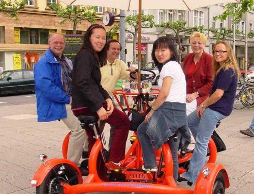 Teambike Taxi beim Kunst & Hofflohmarkt Lampertheim