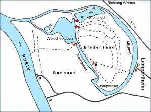 Karte mit Fretterloch