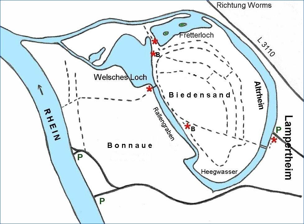 Fretterloch Altrhein Lampertheim