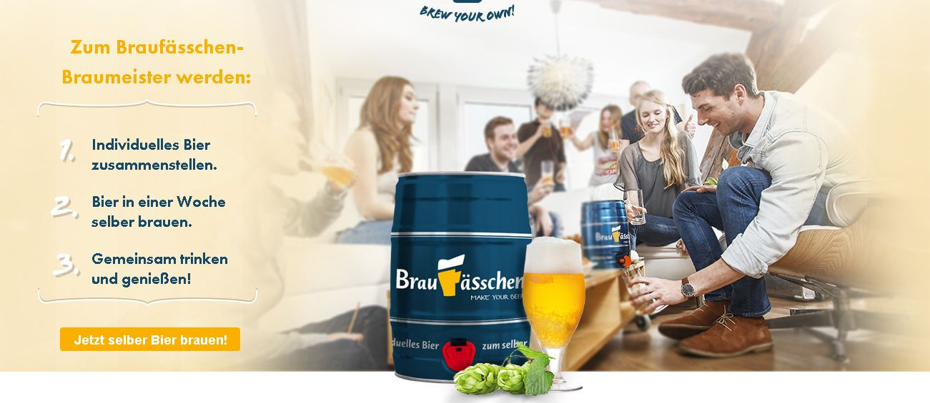 Bierparty mit selbsgebrautem Bier