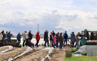 Spargelwanderung Lampertheim Besucher