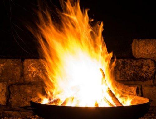 Feuer im Garten Terrassenfeuer