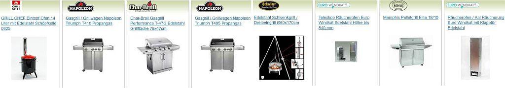 Grills und Grillstationen bei edingershops